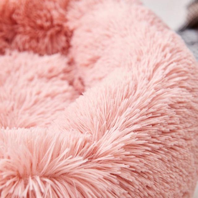 Super Soft Washable Dog Bed Sofa Long Plush Kennel Deep Sleep House 4
