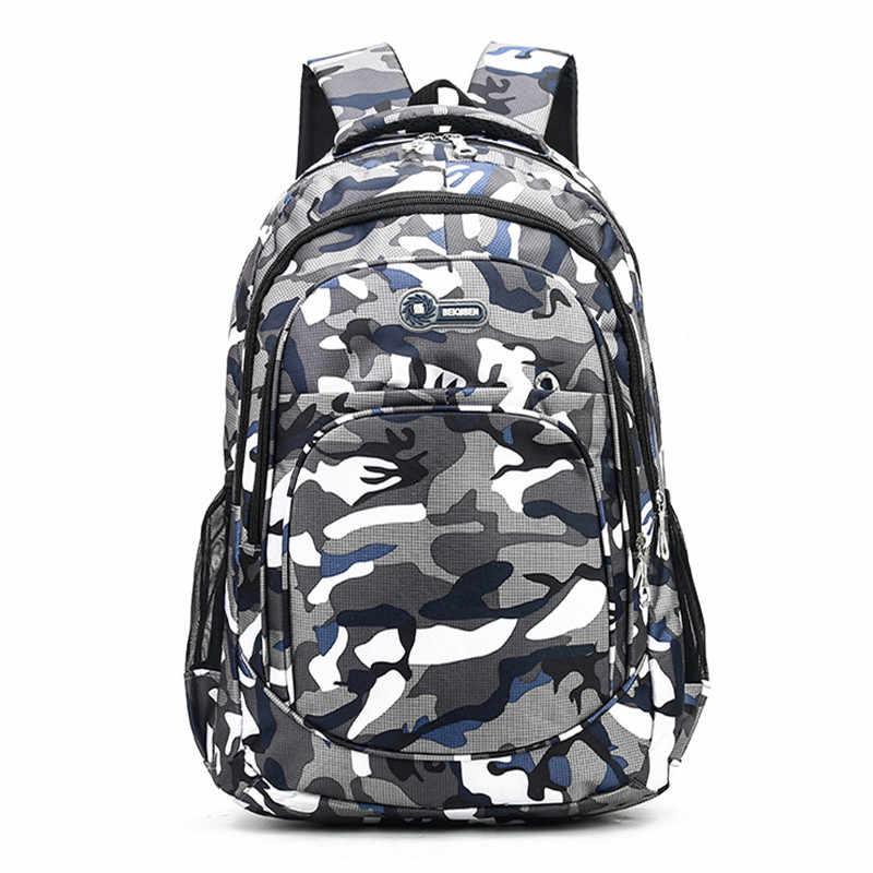 2 rozmiary kamuflaż wodoodporne torby szkolne dla dziewczynek chłopcy ortopedyczny plecak dla dzieci książka dla dzieci torba Mochila Escolar tornister