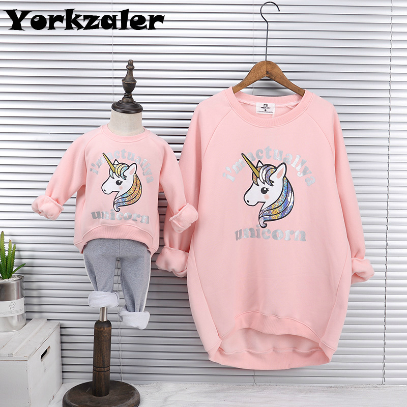Mother And Daughter Macthing Clothes Long Sleeve Thck Warm Shirts Family Clothing Same Look Mom And Baby Sweater Shirt