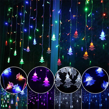 New Years LED Icicle Curtain Lights 3M 5M Christmas Fairy Garland String Lights for Home Christmas Party Xmas Decoration Indoor image