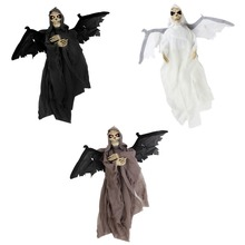 Halloween Sound Control Electric Bat Large Hanging  Decoration Scary Skeleton Ghost For Bar Ornament Props