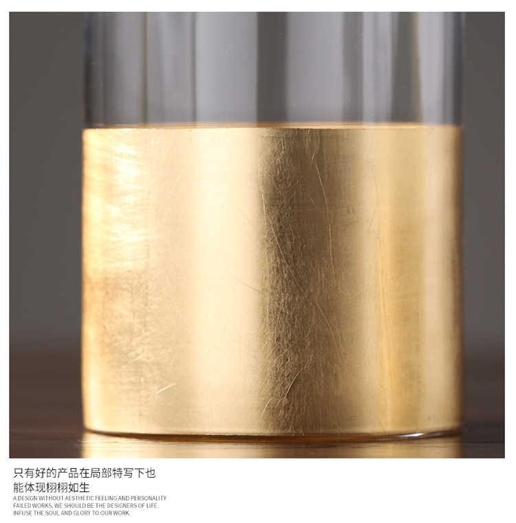 Nordic Gold Kandelaars Windscherm Vaas Kandelaar Verjaardag Bruiloft Centerpieces Voor Tafels Romantische Sfeer Thuis FC328