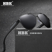HBK 2019 New Men Polarized Sunglasses 1.1mm Thicken Lens Fashion Brand Outdoor for Flexible Temple Smooth Frame