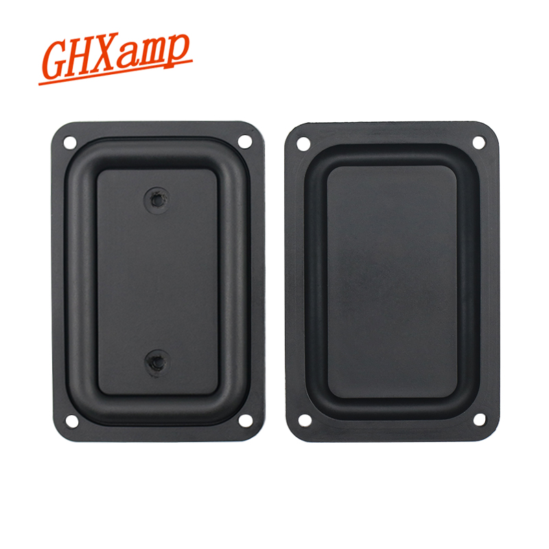GHXAMP 45*68mm Bass Radiator Vibration Subwoofer Square Vibration Film Strengthen Low Frequency Radiator Rubber Diaphragm 2pcs