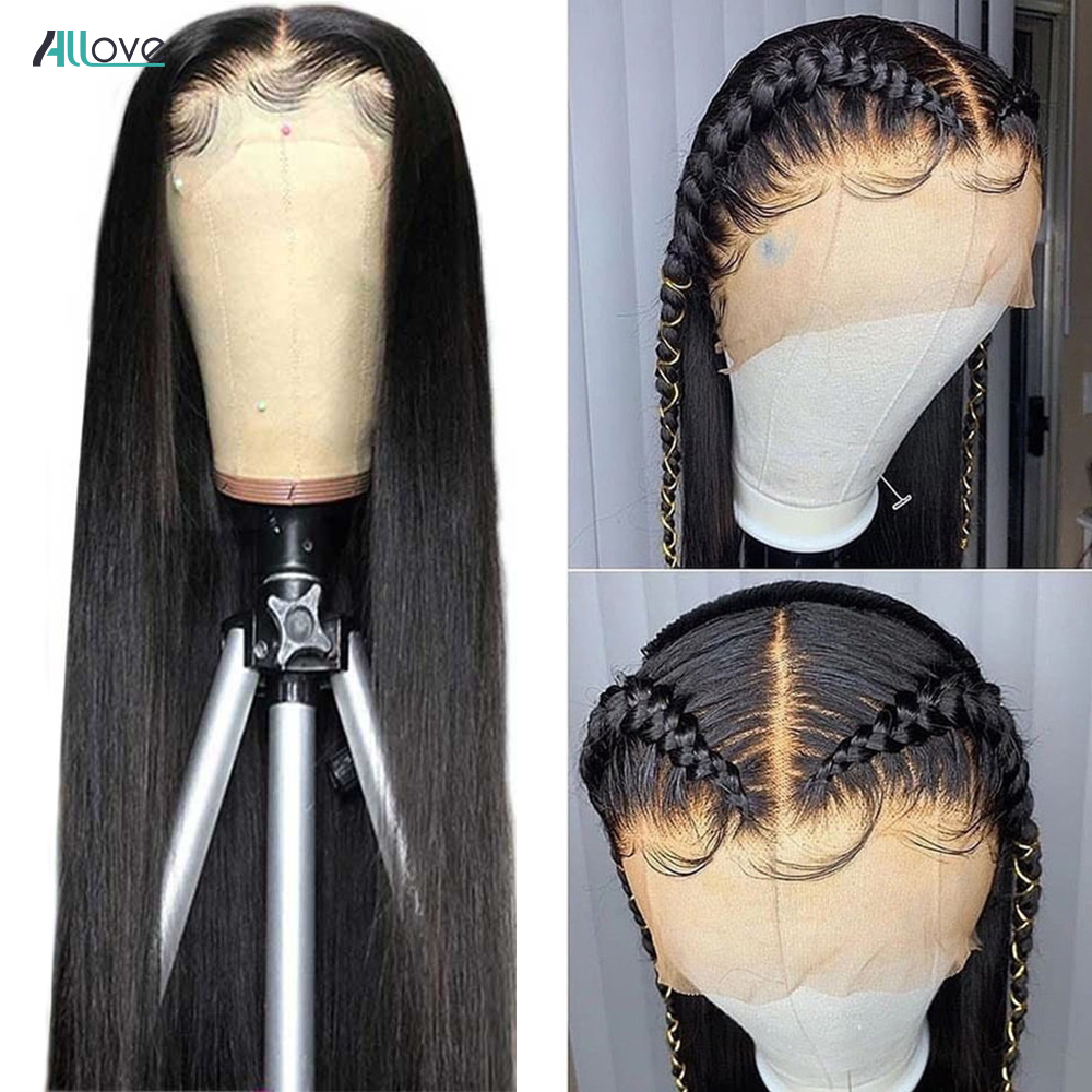 Allove Bone Straight Lace Front Human Hair Wig 2