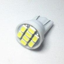 1000 pçs t10 1206 3020 8smd w5w led 194 168 192 cunha do carro automático 8 leds smd luz de folga lâmpada estilo atacado branco