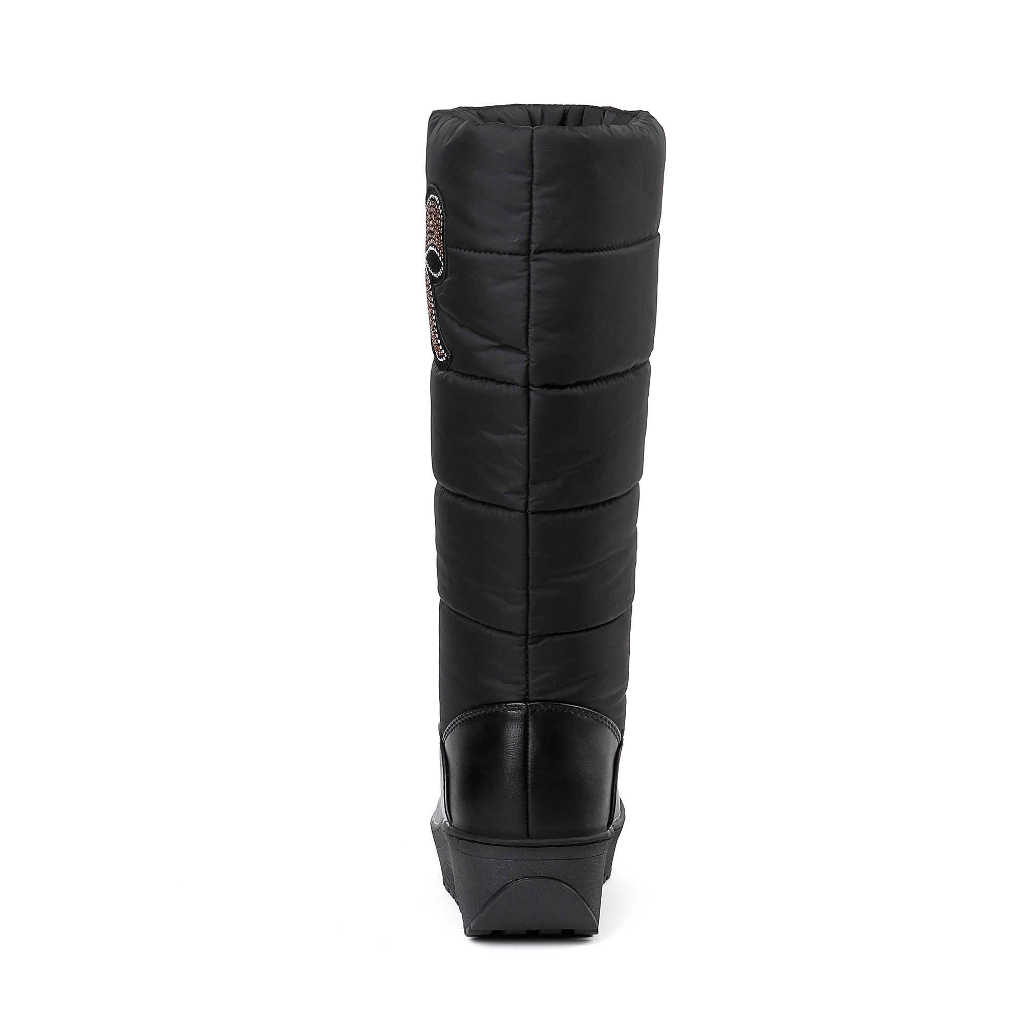 DORATASIA gümrükleme satış kadınlar kış sıcak peluş ayakkabı kadın orta buzağı kar botları kadın kış kalın kürk ayakkabı kadın 35-44
