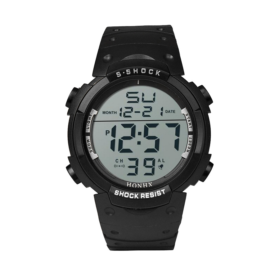 Digital Watches Deportivo Waterproof Fashion Women's Reloj LCD Boy Date Rubber Hombre