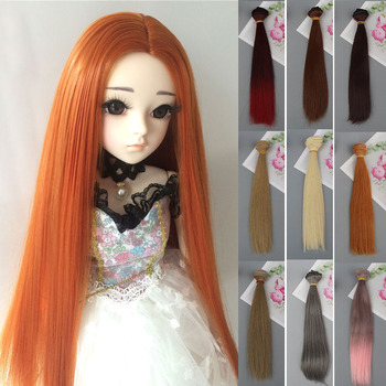 short bobo wig for bjd dolls 1 8 1 6 doll wig synthetic fiber doll wig high quanlity free shipping 1pcs 20*100CM High Temperature Fiber Straight Doll Hair For Russian Handmade Dolls & BJD Dolls DIY Doll Wig Accessories