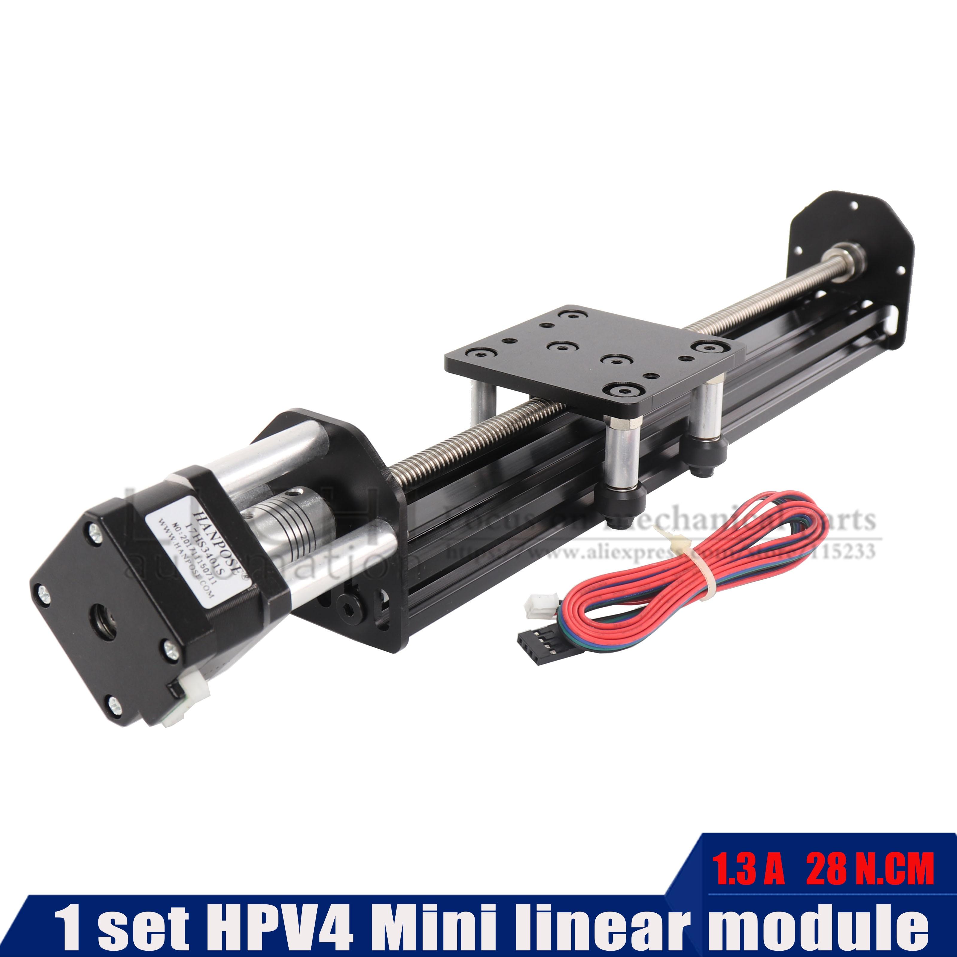 HPV4 NEMA17 stappenmotor 100 200 300 400 V Slot Lineaire model Z as router kit Reprap 3D printer sapre onderdelen-in Lineaire Gidsen van Woninginrichting op Guangzhou  LiChi Electromechanical Automation Co., Ltd.