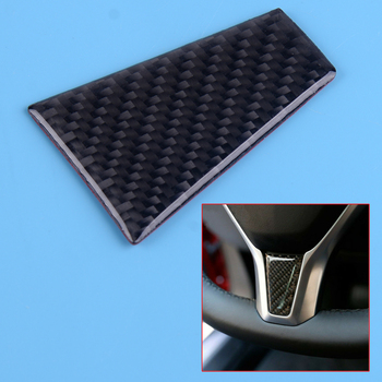 DWCX Car Carbon Fiber Black Style ABS Steering Wheel Cover Trim Panel Styling Fit For Tesla Model X S image