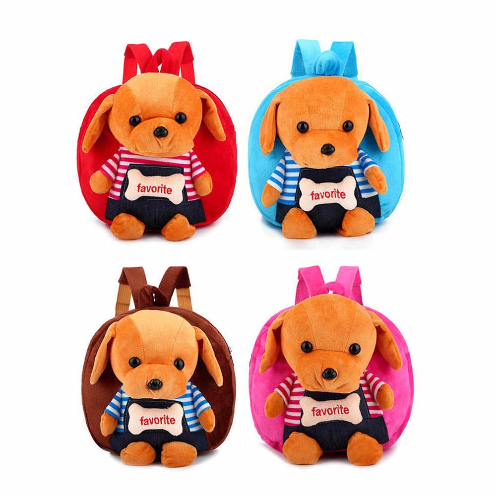 Bebê Brinquedo Do Cão Brinquedo Do Urso Crianças Mochila Dos Desenhos Animados Mochila De Pelúcia Dolls & Toys Stuffed Kity Sacos de Escola Dos Miúdos Bebê Menino sacos