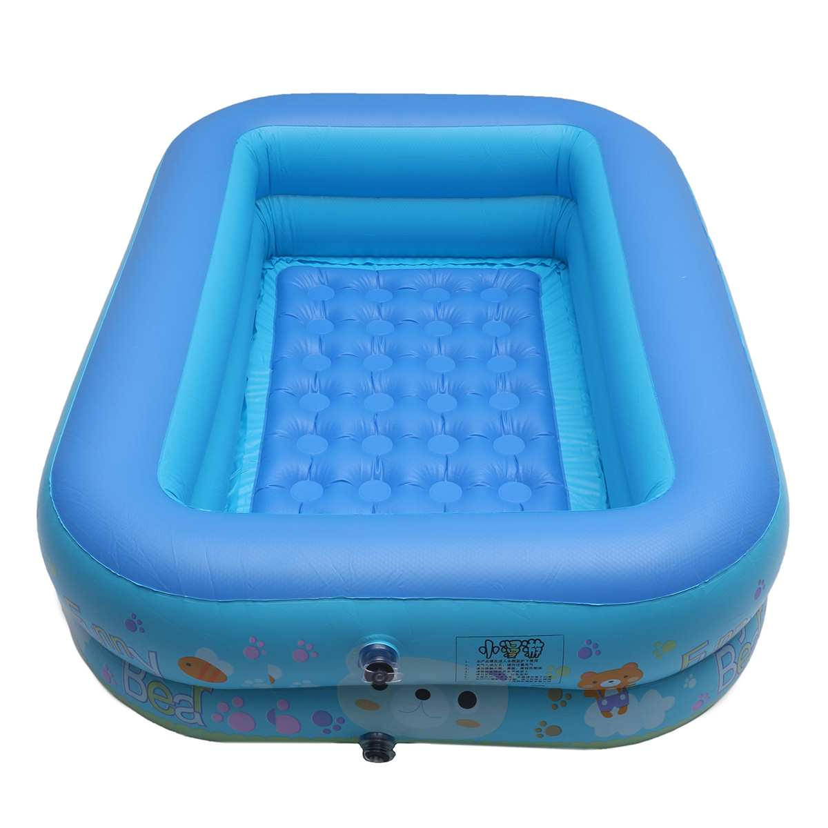 Large Family PVC Baby Kids Inflatable Children Bathing Pool Square Swimming Pool Safety Float Thickened Infant Water Floating