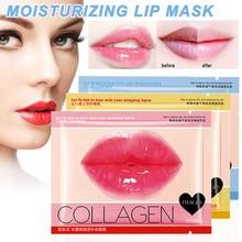 Hot 10Pcs Lip Gel Mask Hydrating Repair Remove Lines Blemishes Lighten Lips Collagen Mask J3
