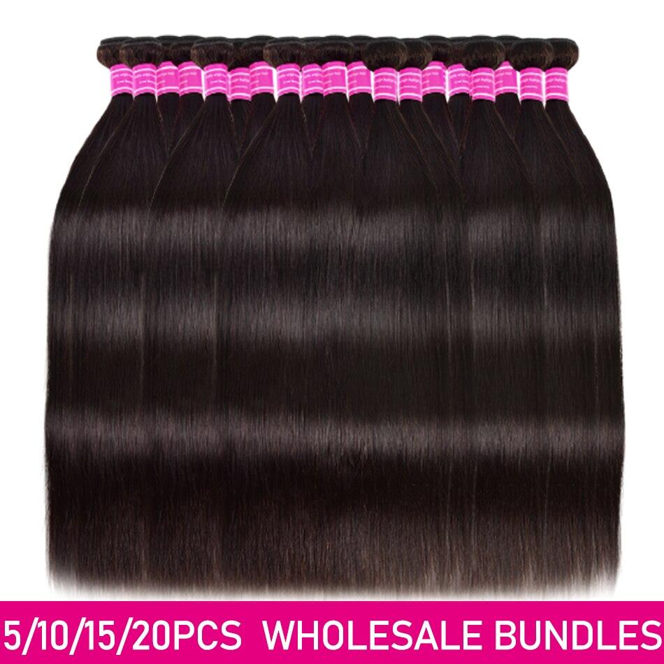 10A Grade WholeSale 2 3 4 5 10 Bundles/Lots Straight Hair Bundles Virgin Human Hair Extensions Brazilian Straight Bundle Deals