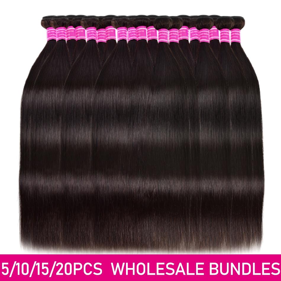 Preço de atacado 2 3 4 510 pacotes/lotes feixes de cabelo em linha reta remy extensões do cabelo humano brasileiro tecer cabelo em linha reta ofertas