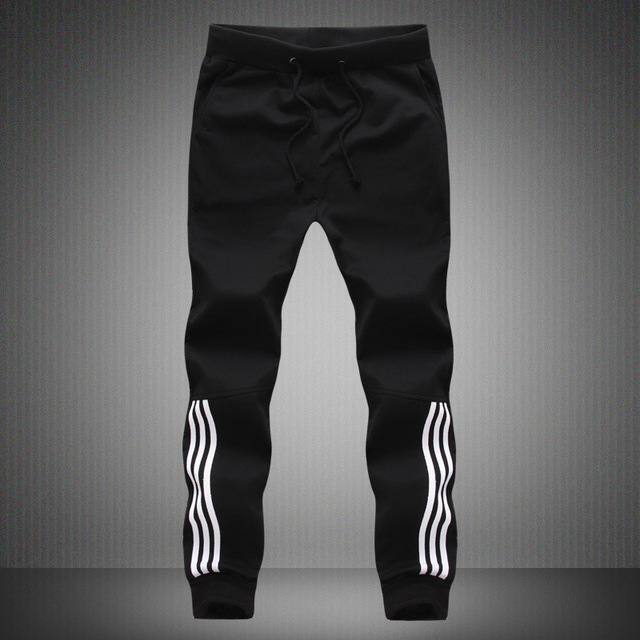 Spring Summer Mens Pants Fashion Skinny Sweatpants Mens Joggers Striped Slim Fitted Pants Gyms Clothing Plus Size 5XL Harem Pant 50