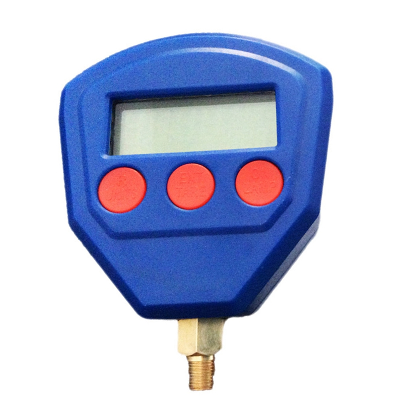 1/8Npt Single Manifold Digital Vacuum Pressure Gauge R22 R410 R407C R404A R134A Air Condition Refrigeration Tool Blue