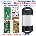 Can Clip V206 диагностический интерфейс для renault Can Clip 202 Золотая печатная плата V178 с реле NEC AN2131QC AN2135SC полный чип + Reprog V191