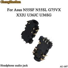 ChengHaoRan 50 ชิ้น/ล็อต 3.5 มม.พอร์ต Audio Jack สำหรับ Asus N55SF N55SL G75VX X32U U36JC U36SG หูฟังไมโครโฟนขั้วต่อซ็อกเก็ต
