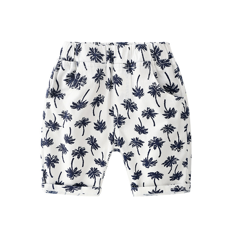 Boys Shorts 2019 Cool Kids Baby Boys Floral Print Shorts Casual Beach Kids Pants for Boys Sport Bottoms Summer Short 3 8T in Shorts from Mother Kids