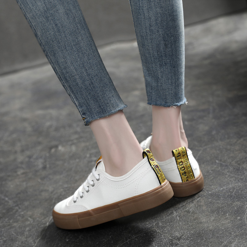 2019 New Style INS Korean-style Harajuku Canvas Shoes Female Students Ulzzang Online Celebrity Sneakers Trendy Shoes Versatile W