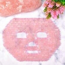 Rose Quartz Jade Mask Cold Therapy Natural Crystal Sleep Face Cooler Tool