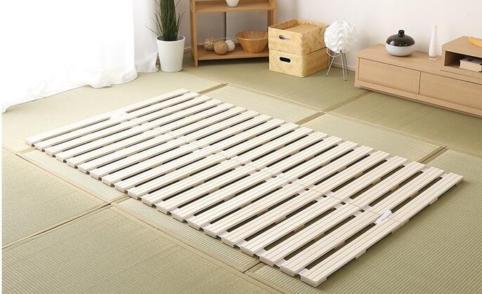 Modern Rolling Up Japanese Style Solid Wood Bed Support Slats For Tatami Bedroom Furniture Single Queen King Bed Frame Wooden Aliexpress