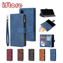 Pu leather phone case For Samsung note9 note10 note10pro note10lite note20 Fully enclosed protection Wallet function package