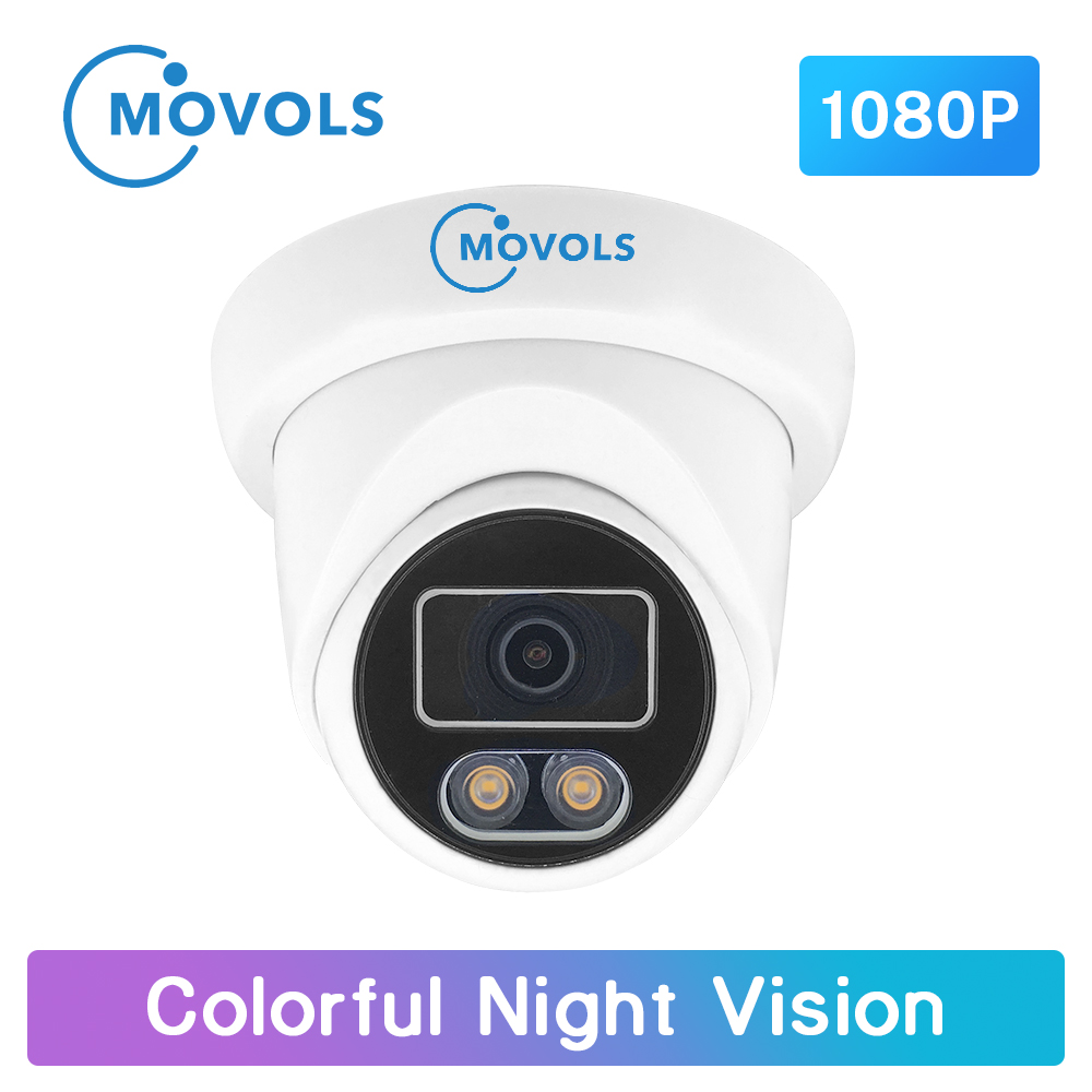 Movols 1080P Colorful Night Vision Surveillance Camera AHD/TVI/CVI/Analog 4 IN 1 CCTV Camera Waterproof Sony Sensor Doom Camera