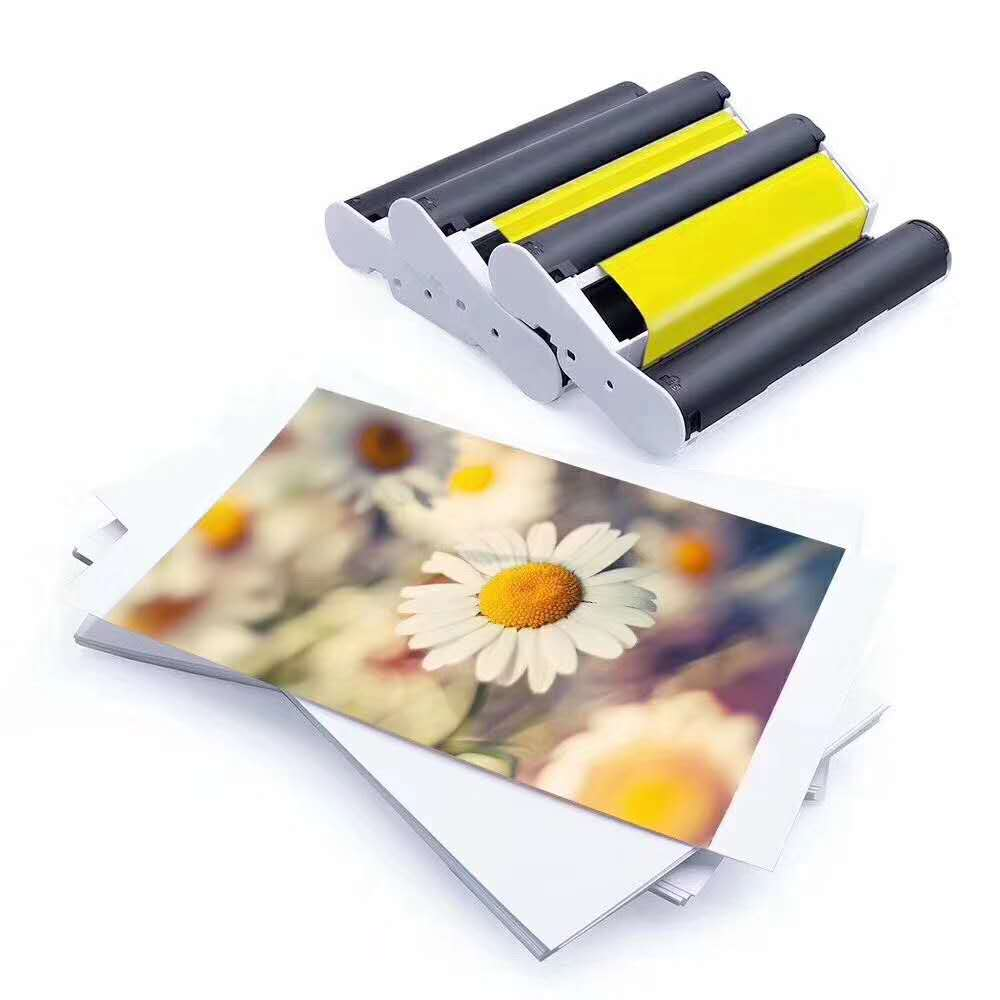 KP-108IN 100*148 мм фотобумаги и переработанного чернильного картриджа для Canon Selphy CP серии фотопринтер CP800 CP910 CP1200 CP1300 принтер