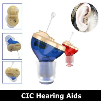 Aparaty słuchowe niewidoczne aparaty słuchowe z wewnętrznym uchem wzmacniacz dźwięku do ucha dla dorosłych Mini tanie i dobre opinie GN Hearing Chin kontynentalnych blue red mini size small Plastic Inner ear hearing aids Hearing Amplifier Different size Ear Domes
