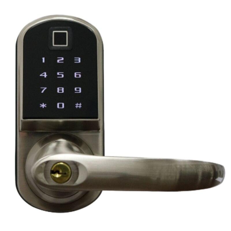 Smart Electronic Door Lock Code Door Lock Mechanical Keys Press Screen Keypad Digital Password Lock Keyless Electronic Lock Smar|Electric Lock| |  - title=