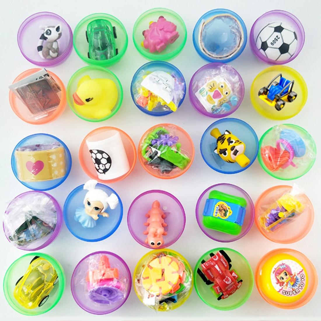 100Pcs 5cm Filled Easter Eggs Plastic Surprise Party Eggs For Easter Hunt - Random