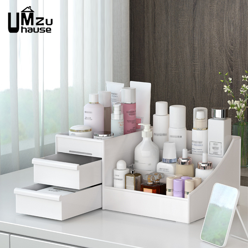 Cosmetics Storage Boxes Drawer Divider Girl Makeup Organizers Home Bathroom Organization Jewelry Toiletries Container Save Space