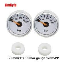 """كرة الطلاء PCP قياس ضغط الهواء 2 قطعة 350bar مقياس الضغط الصغير الصغير 1/8 """"BSPP المواضيع"""