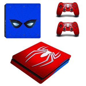 Image 4 - Örümcek adam Full muhafaza kapakları PS4 Slim cilt Sticker çıkartma vinil Playstation 4 konsolu ve kontrolörleri PS4 Slim cilt Sticker