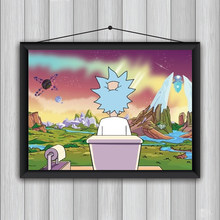 Modern and Fun Toilet Wall Art Canvas Painting Rick Inspired Bathroom Poster Print Toilet Humor Picture Home Decor Frameless