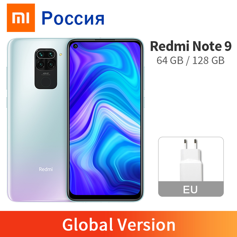 "Global Version Xiaomi Redmi Note 9 3GB 64GB 4GB 128GB Cellphone 48MP Camera MTK Helio G85 Octa Core 6.53"" DotDisplay 5020mAh(China)"