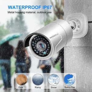 Image 4 - MISECU H.265 كامل HD 2MP 5MP الأمن الصوت IP كاميرا 1080P المعادن مقاوم للماء POE ONVIF رصاصة في الهواء الطلق CCTV كاميرا مراقبة