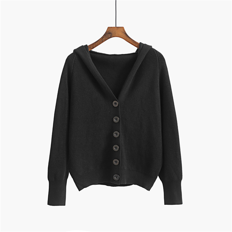 GIGOGOU Hooded Women Cardigan Sweater 2020 Short Preppy Style Campus Student Cardigans Knitted Soft Female Jumpers Top Outfits 7