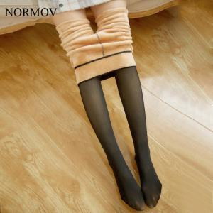 NORMOV Women Warm Pantyhose High Elastic Push Up Thick Winter Tights Sexy Fitness Slim Fit Pantyhose For Women One Size