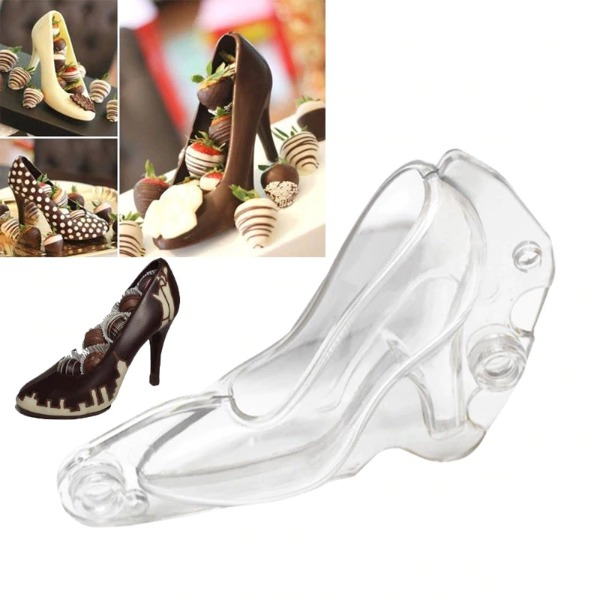 High Heeled Shoe Chocolate Mold Candy Sugar Paste Cake Decorating DIY Drop Shipping