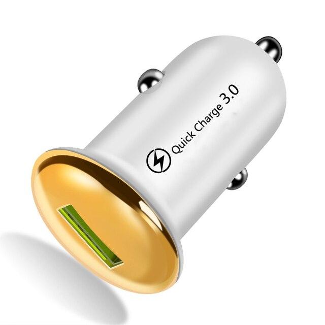 מיני מטען לרכב עבור iPhone 11 X מהיר תשלום 3.0 USB טלפון מטען עבור סמסונג S10 S20 בתוספת מהיר טעינה טלפון נייד מטענים
