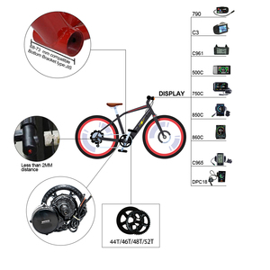 Image 5 - NEW Version 48V500W Bafang Central Motor Mid Drive Powerful Potor Kit Electric Bicycles Ebike Motor Conversion Kit Battery Pack