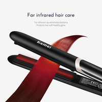Kemei Hair Straightener Professional Curling Iron Negative Electric Flat Iron LED Display Hair Curler Hair Straightening Tools 4