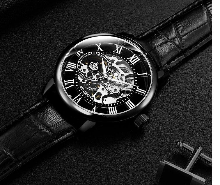 H90dffb690a554cc4841a5a9c162f2086u Coupons Sale Men Watches Mechanical Hand Wind Luxury Top Brand ORKINA Skeleton Stainless Steel Bracelet Mesh Strap Men's Watches
