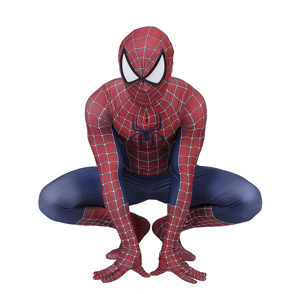 Spider-Man 3 Raimi Spiderman Costume Cosplay Superhero Zentai Bodysuit Jumpsuits Halloween Costume spider Suit for Kid Adult Men 5