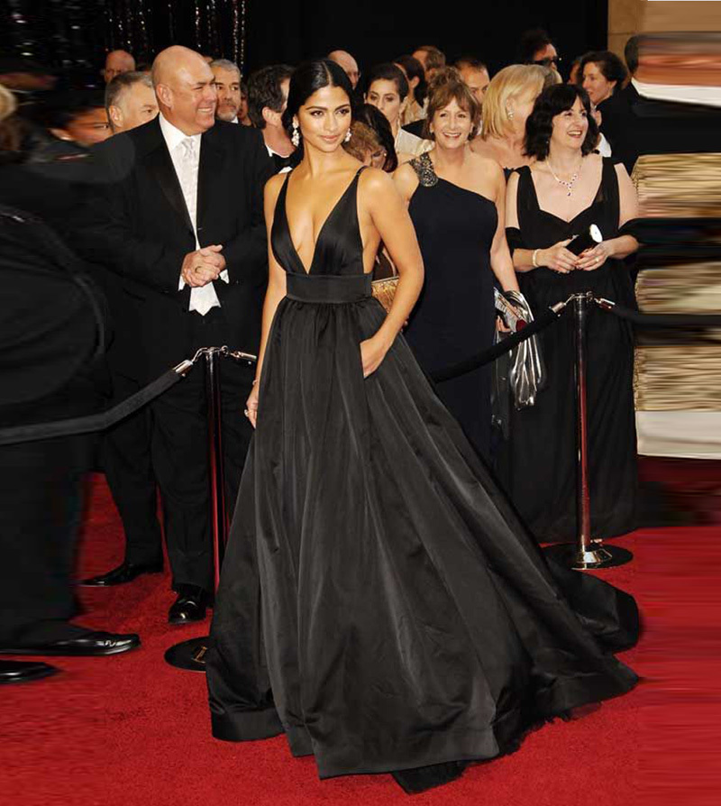 Vestido Longo Camila Alves Red Carpet Black Sexy Backless Spaghetti Long Formal Party With Packets Mother Of The Bride Dresses