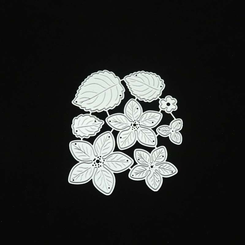 M117 8pc Flower Spring Leaf METAL CUTTING DIES Stencil Scrapbooking Photo Album Card Paper Embossing Craft DIY